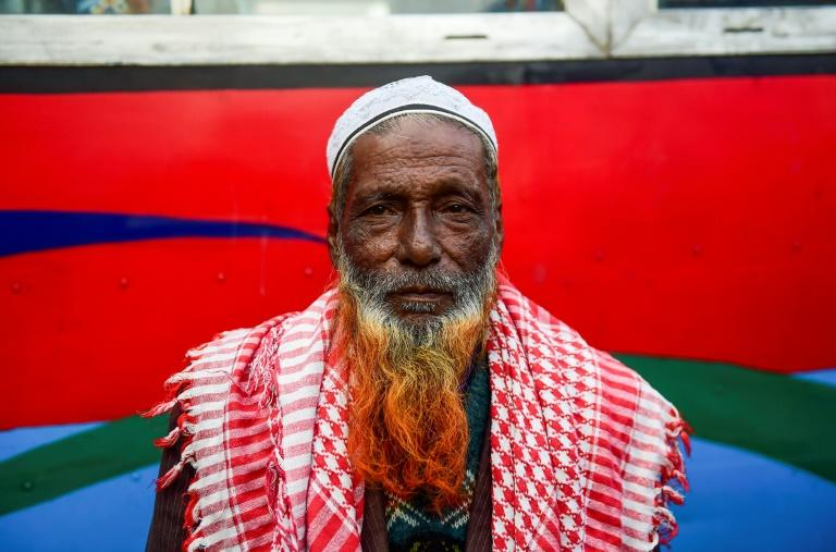 Facial hair of sunset tones is now the go-to look for older men wanting to take off the years in Bangladesh (AFP Photo/MUNIR UZ ZAMAN)