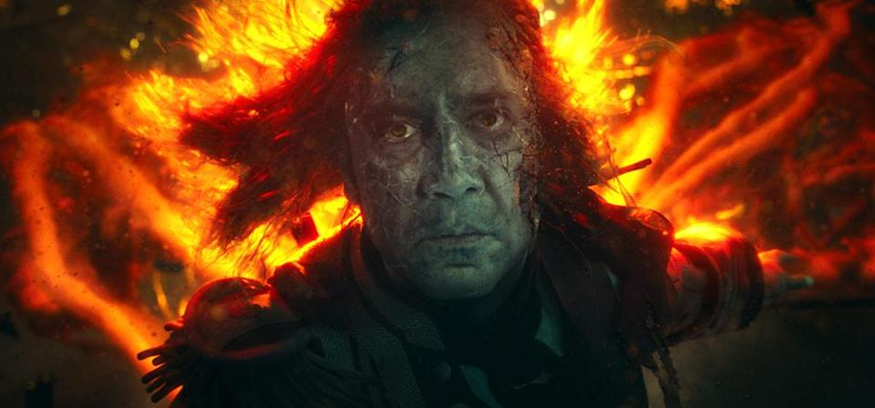 <p>A spooky Javier Bardem as Captain Salazar in 'Pirates of the Caribbean: Dead Men Tell No Tales' (Photo: Disney)<br><br> </p>  <p>Sweet Bird of Youth</p><p> Captain Jack Sparrow (Johnny Depp) in a flashback scene, made young with the help of CGI in 'Pirates of the Caribbean: Dead Men Tell No Tales' (Photo: Disney)<br><br><br> </p>  <p>Cool vs. Ghoul</p><p> Geoffrey Rush as Barbossa (left) faces off with Javier Bardem as Captain Salazar in 'Pirates of the Caribbean: Dead Men Tell No Tales' (Photo: Disney)<br><br> </p>  <p>Keep Your Eye on the Sparrow</p><p> Johnny Depp as Captain Jack Sparrow in 'Pirates of the Caribbean: Dead Men Tell No Tales' (Photo: Disney)<br><br> </p>  <p>The New Recruit</p><p> Brenton Thwaites plays Henry, a young sailor, in 'Pirates of the Caribbean: Dead Men Tell No Tales' (Photo: Disney)<br><br> </p>