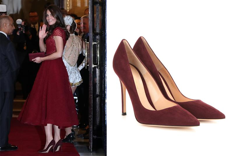 1e45aae6017 Kate Middleton Found Shoes That Perfectly Match Her Marchesa Dress