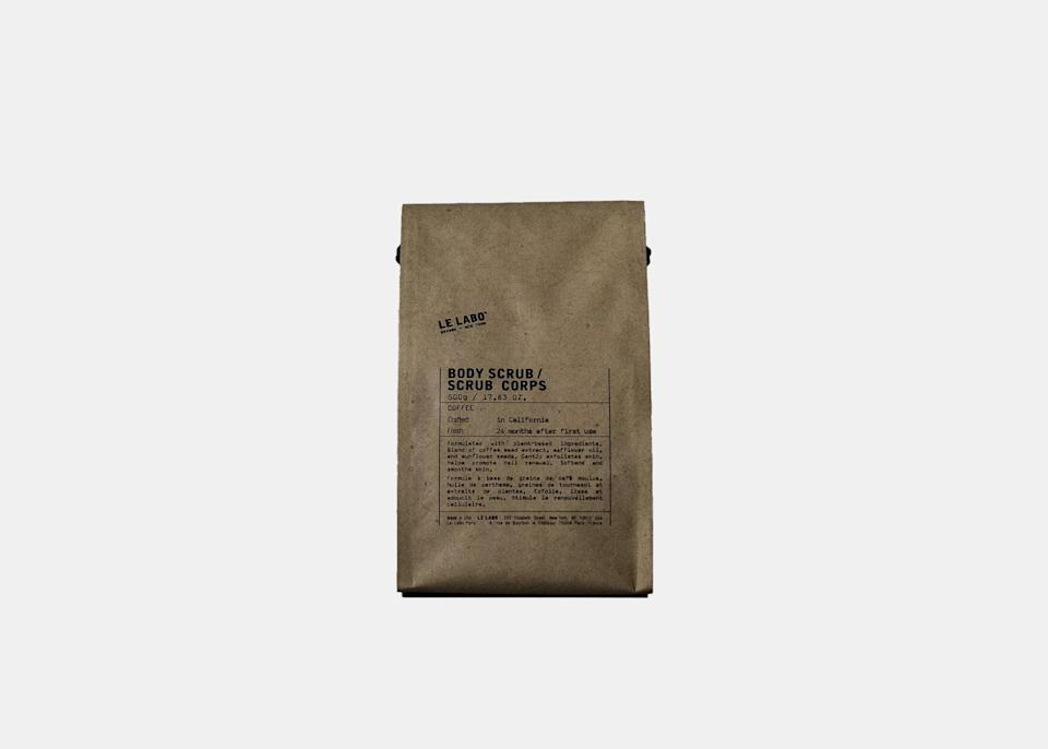 """For the beauty and skincare enthusiasts in your life who are also coffee lovers, Le Labo's body scrub combines all of their favorite things. The scrub uses a blend of plant-based ingredients like coffee seed extract, sunflower oil, and sunflower seeds to gently exfoliate skin, leaving it feeling smooth and rejuvenated. $50, Le Labo Fragrances. <a href=""""https://www.lelabofragrances.com/body-scrub-432.html?source=shoppingads&locale=en-US&gclid=Cj0KCQiA4feBBhC9ARIsABp_nbU-84ZN0zeGNpxWTuItQwiTaGOwd0zwoKZVIxB39Cs9I0PNpKqHNGwaAlXVEALw_wcB"""" rel=""""nofollow noopener"""" target=""""_blank"""" data-ylk=""""slk:Get it now!"""" class=""""link rapid-noclick-resp"""">Get it now!</a>"""