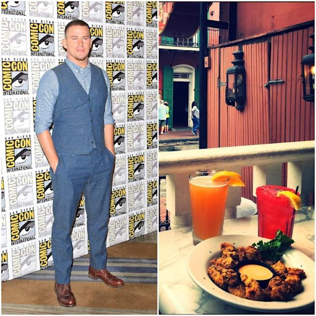 "<p>Actor Channing Tatum opened a red-light-district, bordello-inspired New Orleans bar and restaurant <a href=""http://saintsandsinnersnola.com/"" rel=""nofollow noopener"" target=""_blank"" data-ylk=""slk:Saints and Sinners"" class=""link rapid-noclick-resp"">Saints and Sinners</a> in November 2012 with business partner Keith Kurtz. It offers up southern favourites such as jambalaya, blackened crawfish and seafood gumbo. The cocktails list is extensive and features drinks named Burlesque Stress, Cajun Sinner and Love Potion #10 among others. <br>(Canadian Press/Instagram) </p>"