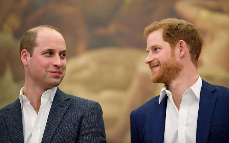 Prince William and Prince Harry work together in 2018 - AFP