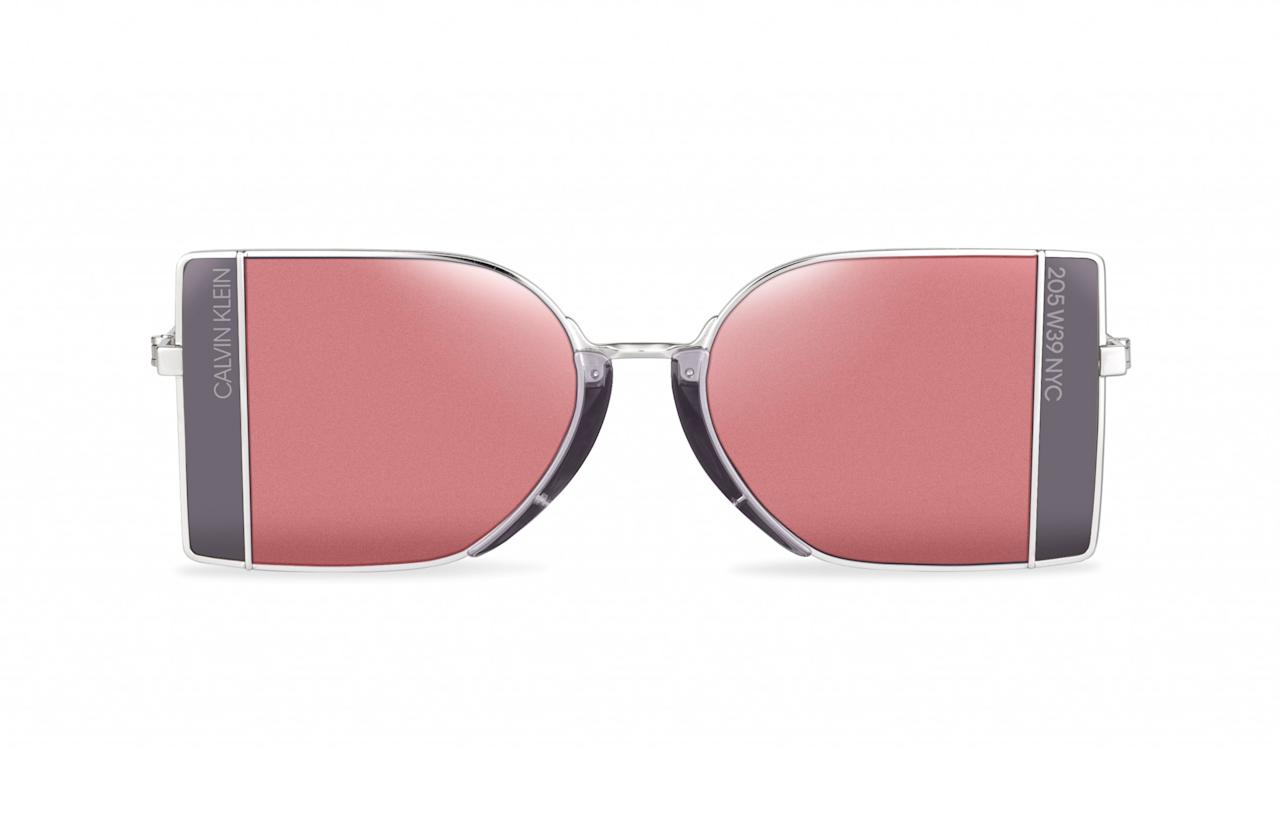 "<p>Raf Simons' first sunglasses range for Calvin Klein is nothing short of spectacular. (Can you tell we're big Raf fans?) The 205W39NYC collection features several futuristic styles with tinted lenses in shades of pink, orange and blue.<br /><a rel=""nofollow"" href=""http://marchon.com/""><em>Marchon, £375</em></a> </p>"