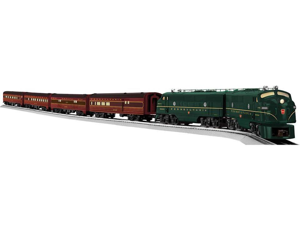 """<p><a href=""""http://www.lionel.com/products/neil-young-signature-line-pennsylvania-trail-blazer-f3-passenger-set-6-11195/"""" rel=""""nofollow noopener"""" target=""""_blank"""" data-ylk=""""slk:Lionel's nostalgic electric train sets"""" class=""""link rapid-noclick-resp"""">Lionel's nostalgic electric train sets</a> evoke a bygone era (and are now made with 21st century technology), but if you happen to find an original Lionel set in your attic, it could be worth <a href=""""https://www.ebay.com/itm/Lionel-6-82726-Postwar-FA-Green-Passenger-Train-Set/392119229861?epid=12012278060&hash=item5b4c209da5:g:KZEAAOSwO95bkW0h:rk:12:pf:0"""" rel=""""nofollow noopener"""" target=""""_blank"""" data-ylk=""""slk:hundreds"""" class=""""link rapid-noclick-resp"""">hundreds</a>.</p>"""