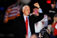 U.S. Vice President Mike Pence rally in Kinston, North Carolina