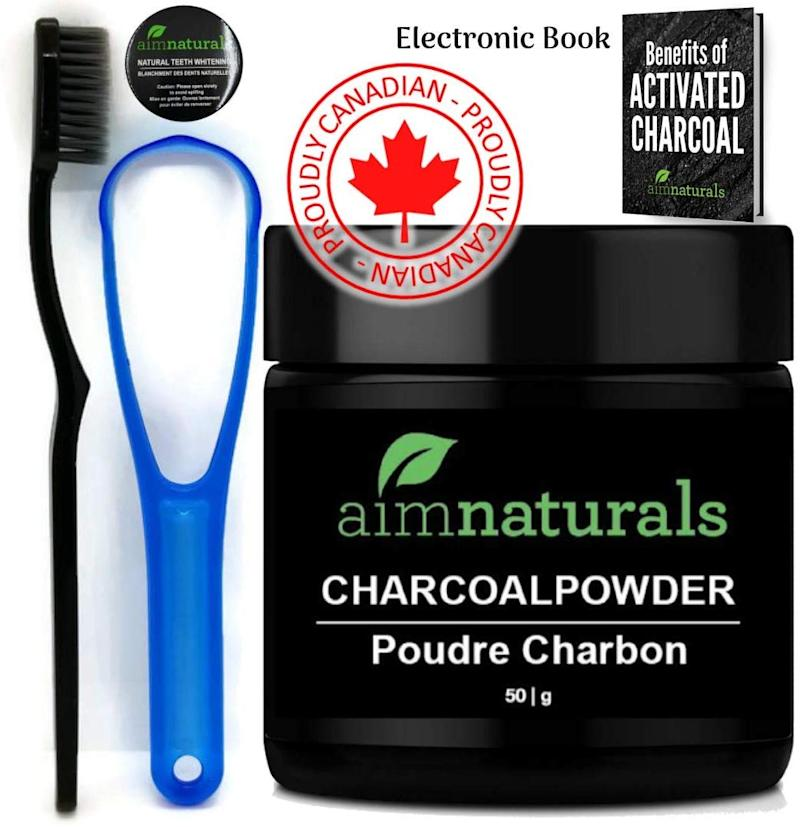 Aimnaturals Best Canadian Natural Teeth Whitening Activated Charcoal Powder In Bulk
