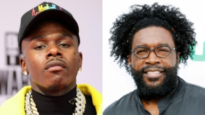 """DaBaby (left) claimed he didn't know who Questlove (right) was after The Roots' drummer and """"Tonight Show"""" musical director condemned his homophobic remarks. (Photos by Rich Fury/Getty Images and Amy Sussman/Getty Images)"""