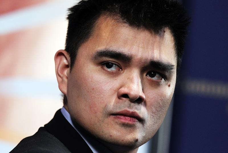 Pulitzer-prize winning journalist and activist Jose Antonio Vargas speaks at the Commonwealth Club of California on July 11, 2011 in San Francisco, California