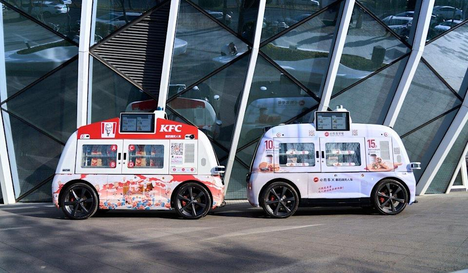 Neolix has delivered its autonomous delivery vehicles to KFC and Pizza Hut. Photo: Handout