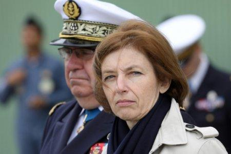 FILE PHOTO: French Minister of the Armed Forces Florence Parly (R) and French President personal chief of military staff, admiral Bernard Rogel (L) attend a ceremony marking the 40th anniversary of the mid ranking Air Force officers' school,