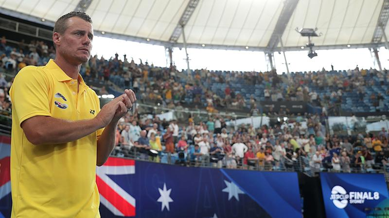 Lleyton Hewitt, pictured here at the ATP Cup in Sydney.