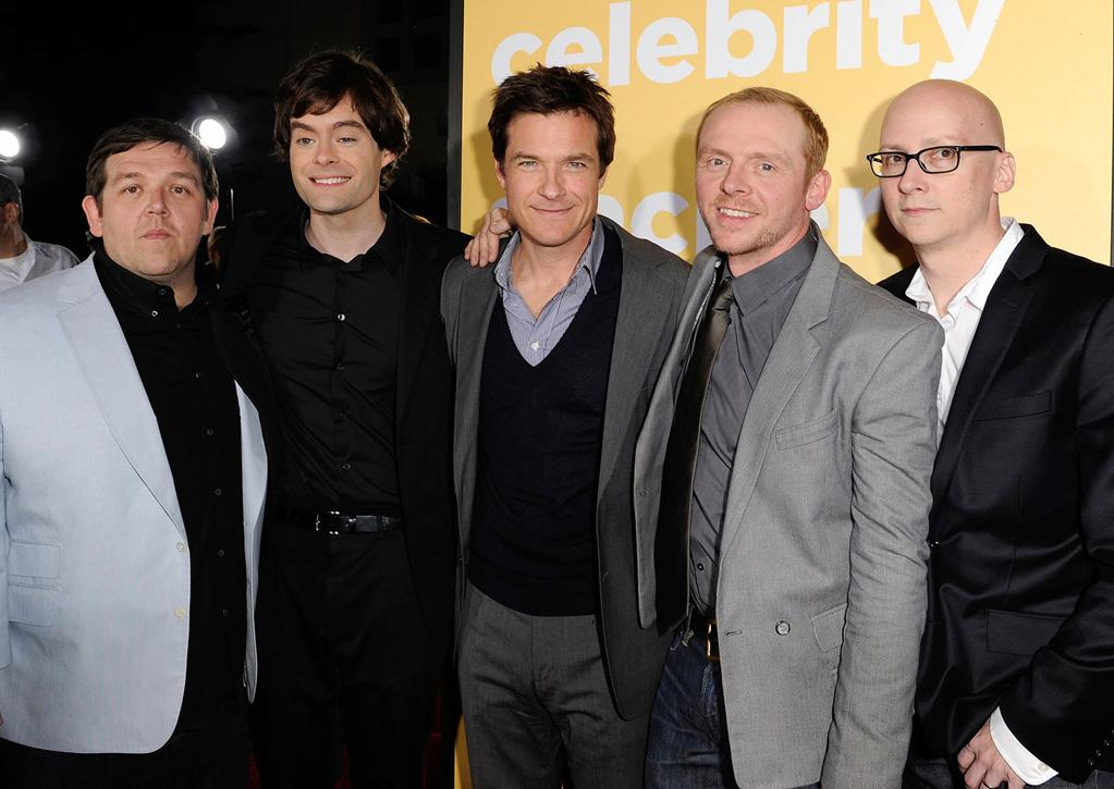 """<a href=""""http://movies.yahoo.com/movie/contributor/1807585578"""">Nick Frost</a>, <a href=""""http://movies.yahoo.com/movie/contributor/1804890653"""">Bill Hader</a>, <a href=""""http://movies.yahoo.com/movie/contributor/1800019148"""">Jason Bateman</a>, <a href=""""http://movies.yahoo.com/movie/contributor/1804763358"""">Simon Pegg</a> and <a href=""""http://movies.yahoo.com/movie/contributor/1800280619"""">Greg Mottola</a> attend the Los Angeles premiere of <a href=""""http://movies.yahoo.com/movie/1810097993/info"""">Paul</a> on March 14, 2011."""