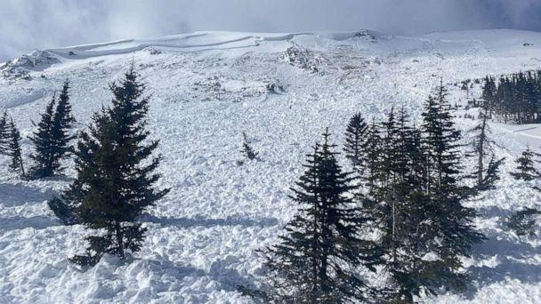 PHOTO: The Colorado Avalanche Information Center posted this photo commenting on dangerous avalanche conditions after two fatal avalanche accidents on Feb. 14, 2021. (Colorado Avalanche Information Center)
