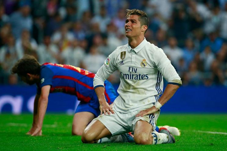 No, Cristiano Ronaldo, we're not lying. There's going to be a preseason El Clasico in Miami. (Getty)