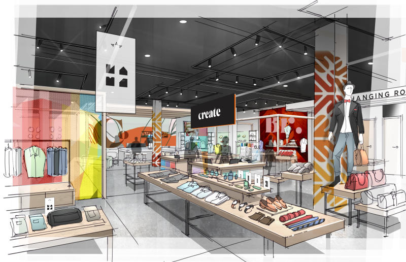 """A rendering of Anchor Shops by ShopFulfill. """"We are providing brands the ability to expand into brick and mortar without the upfront expense,"""" said Shlomo Chopp, founder and CEO."""