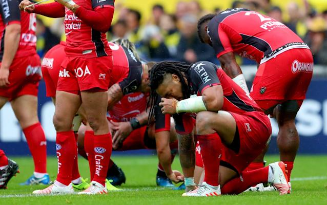 <span>Ma'a Nonu sinks to his knees</span> <span>Credit: REX FEATURES </span>