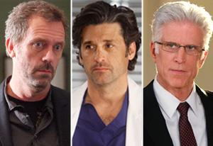 Hugh Laurie, House; Patrick Dempsey, Grey's Anatomy; Ted Danson, CSI  | Photo Credits: Jordin Althaus/Fox; Randy Holmes/ABC; Sonja Flemming/CBS