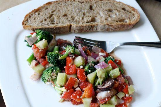 """<strong>Get the <a href=""""http://www.macheesmo.com/2009/06/broccoli-salad/"""">Broccoli Salad recipe from Macheesmo</a></strong>"""