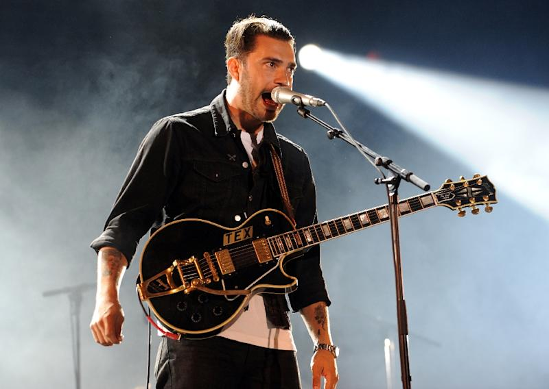 """Rocker Hanni El Khatib's career has rarely touched on his ethnicity, but his new mixtape """"Savage Times"""" will explore his identity as a first-generation American (AFP Photo/Fred TANNEAU)"""