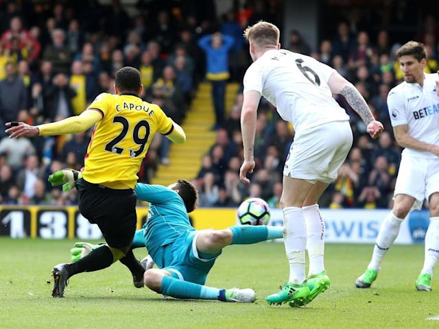 Capoue gave Watford the lead with his sixth goal of the season (Getty)