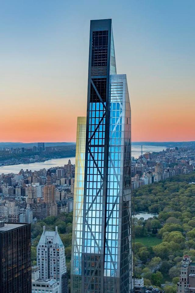 <p>Jean Nouvel's 53 West 53 condominium tower is 1,050 feet high and adjacent to the Museum of Modern Art. It has stunning views of Central Park and the Hudson River.</p>