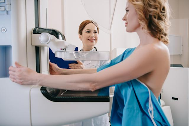 Mammograms can spot breast tumours before they can be felt. (Getty Images)