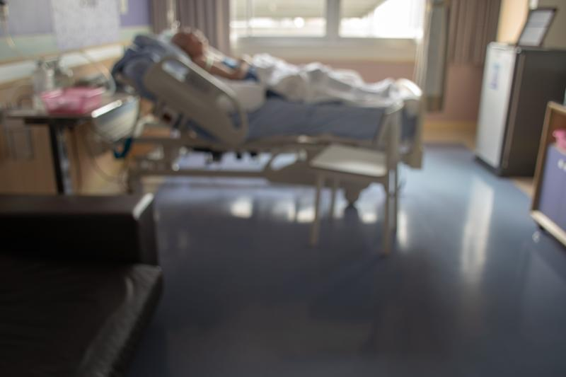 blurred image of Patient with drip in hospital for background usage. (Photo: Kaipungyai via Getty Images)
