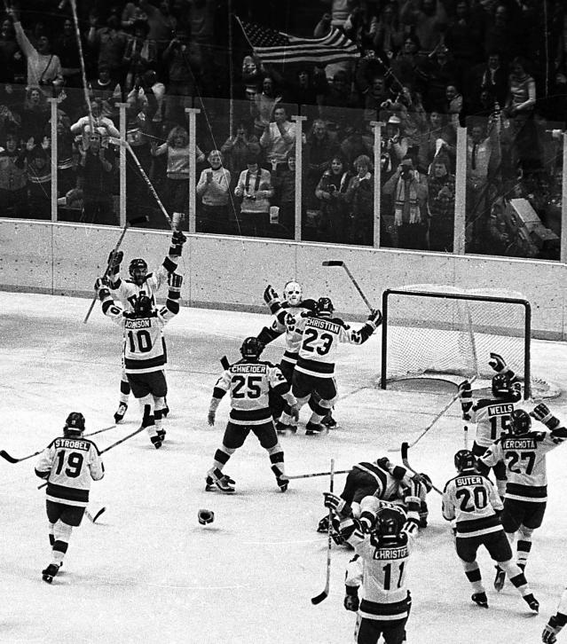 <p>Coming into the 1980 Olympics, political tensions between the U.S. and Soviet Union were reaching a boiling point. On the sports side, the Soviets had ruled the hockey world for the previous 20 years, winning 13 world championship titles between 1960-80 while winning four Olympic gold medals in the span. But the U.S. team, made up of a rag-tag group of college kids and a coach from Minnesota, slayed the giant and completed the 'Miracle on Ice' in stunning fashion in Lake Placid, New York, scoring a pair of third-period goals to end the Soviets' Olympic win streak. That was the last time the U.S. men's hockey team won Olympic gold. </p>