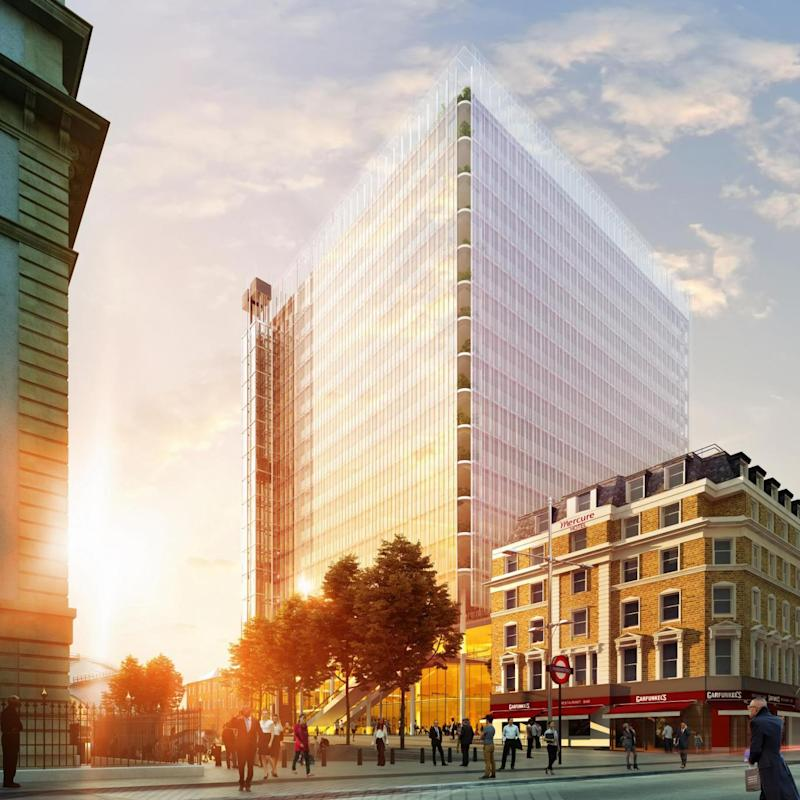 An artist's impression of how the Cube in Paddington will look