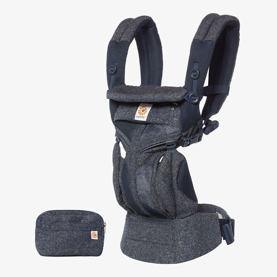 """<p>ergobaby.com</p><p><strong>$180.00</strong></p><p><a href=""""https://go.redirectingat.com?id=74968X1596630&url=https%3A%2F%2Fergobaby.com%2Fomni-360-baby-carrier-all-in-one-cool-air-mesh-blue-tweed&sref=https%3A%2F%2Fwww.cosmopolitan.com%2Fstyle-beauty%2Ffashion%2Fg27349308%2Fnew-dad-gift-ideas%2F"""" rel=""""nofollow noopener"""" target=""""_blank"""" data-ylk=""""slk:Shop Now"""" class=""""link rapid-noclick-resp"""">Shop Now</a></p><p>The waistband on this carrier is adjustable for max comfort. And the design fits both babies and toddlers, so he can keep using it as his little one grows. </p>"""