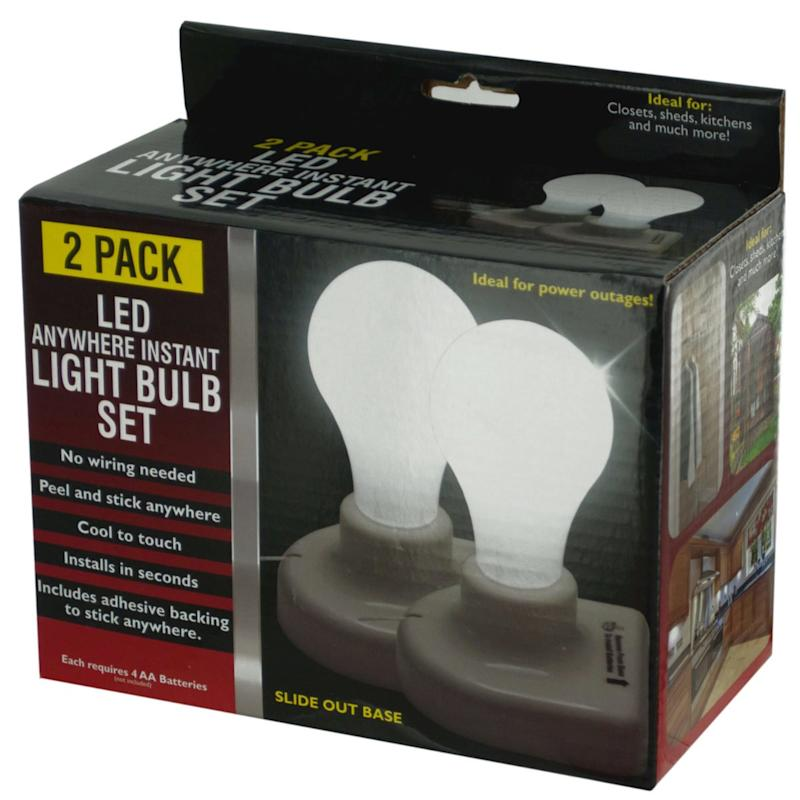 StealStreet LED Anywhere Instant Light Bulb Set (Photo: Amazon)