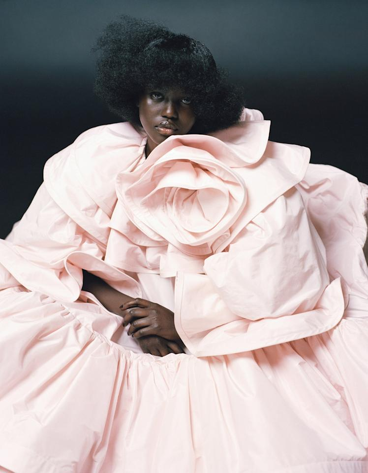 Campbell Addy, <em>Adut Akech</em>, 2019. Featured in <em>The New Black Vanguard: Photography Between Art and Fashion</em>, a book and exhibition curated by Antwaun Sargent and on view at the Aperture Foundation in New York through January 2020.