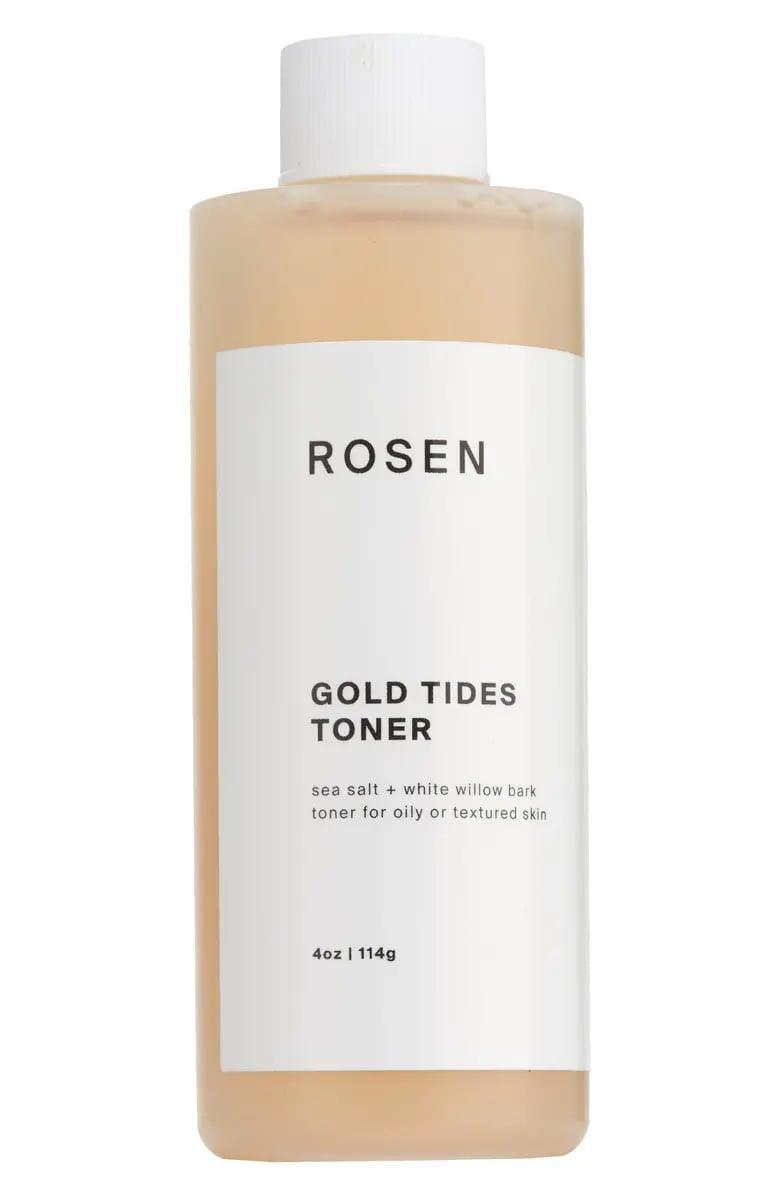 <p>If you have oily skin, the <span>Rosen Gold Tides Toner</span> ($18) is for you. It contains a plant-derived salicylic acid to eliminate oil and clear pores.</p>