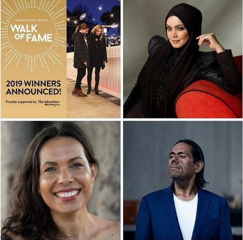 In addition to Siti, dancer Frances Rings and musician William Barton are the 2019 Walk of Fame stars