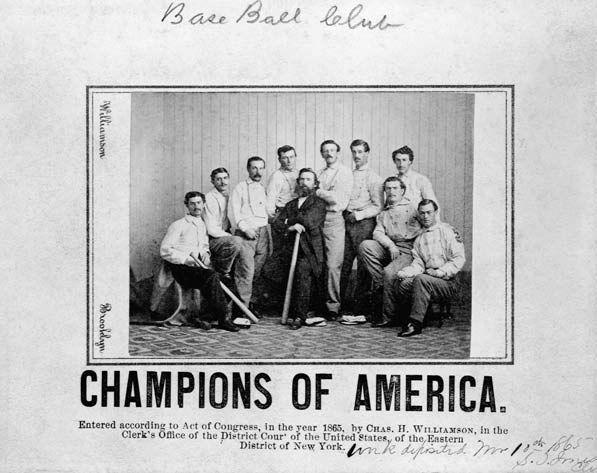 """<p><strong>June 14, 1870</strong>: The Brooklyn Atlantics pull off the impossible when the team roars back against the Cincinnati Red Stockings in extra innings. When the Reds score two runs in the top of the 11th inning, it appears victory is theirs. But Brooklyn scores three in the bottom frame thanks to a disputed play in which a ball that's hit to right field rolls into the roped-in crowd. Fans may or may not interfere with Reds right fielder Cal McVey while Brooklyn scores the winning run, ending an epic, 84-game winning streak and cementing the Atlantics as the National League's new behemoth. """"It is the greatest game ever played,"""" says Thorn, """"because up until that point, the Reds hadn't been defeated in more than two years.""""<br> </p>"""