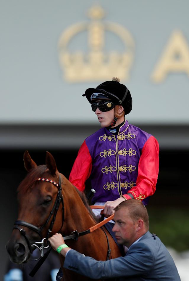 Horse Racing - Royal Ascot - Ascot Racecourse, Ascot, Britain - June 20, 2018 Bless Him ridden by Oisin Murphy before the 5.00 Royal Hunt Cup Action Images via Reuters/Andrew Boyers