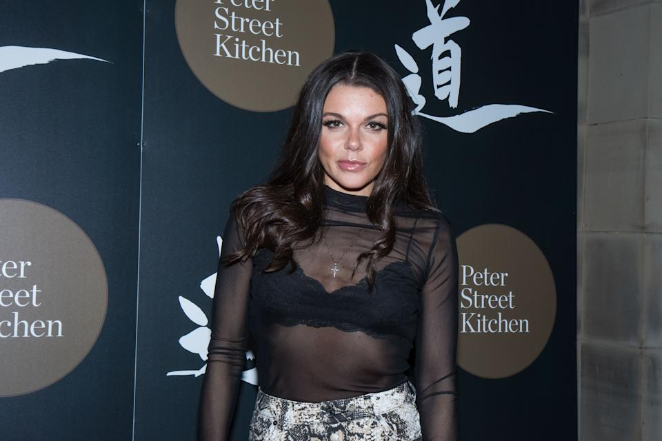 Faye Brookes attends the launch of Peter Street Kitchen on October 11, 2018 in Manchester, England. (Photo by Carla Speight/Getty Images)