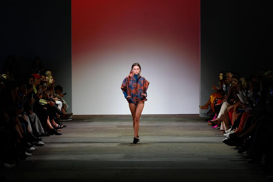 Delilah Belle Hamlin during the Active show at Fashion Week Australia on May 17 in Sydney. (Photo: Getty Images)