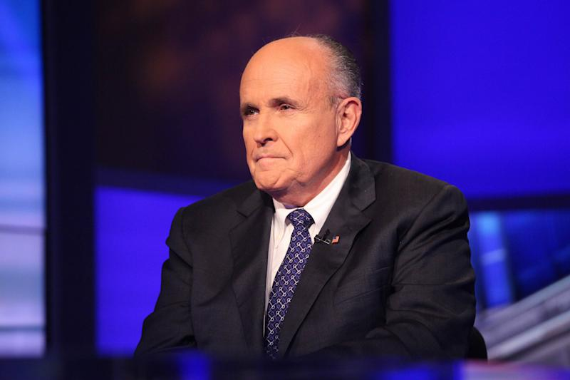 """Former New York mayor Rudy Giuliani (pictured) has triggered a firestorm with an unflinching verbal assault on Barack Obama, saying the US president does not """"love"""" America"""
