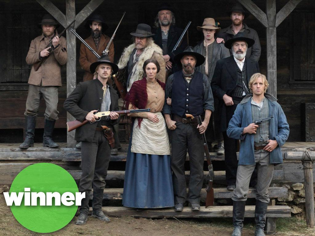 "<b>WINNER: ""Hatfields & McCoys"" (History) </b><br><br>With an all-star cast led by Kevin Costner and Bill Paxton, this smash-hit miniseries that dramatized America's most notorious family feud managed to rewrite the cable-TV history books, too. The final installment of ""Hatfields"" drew a staggering 14.3 million viewers, an all-time high for a non-sports, ad-supported cable airing. Of course, it was only a three-night miniseries -- but you can bet with numbers like these, History will find a way to keep this feud going for years to come."