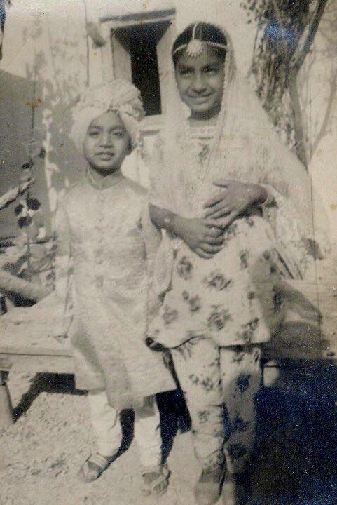 A rare picture of actor Irrfan Khan from his childhood.