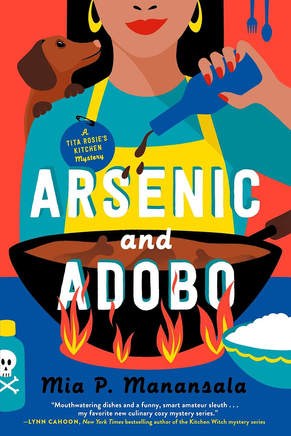 <p><span><strong>Arsenic and Adobo</strong></span> by Mia P. Manansala is the first book in a new food-centric cozy mystery series. The series kicks off with Lila Macapagal returning home after a bad breakup to save her family's restaurant. However, things take a turn when her food-critic ex dies shortly after the two of them argue, making Lila the number one suspect in the eyes of the police. </p> <p><em>Out May 4</em></p>