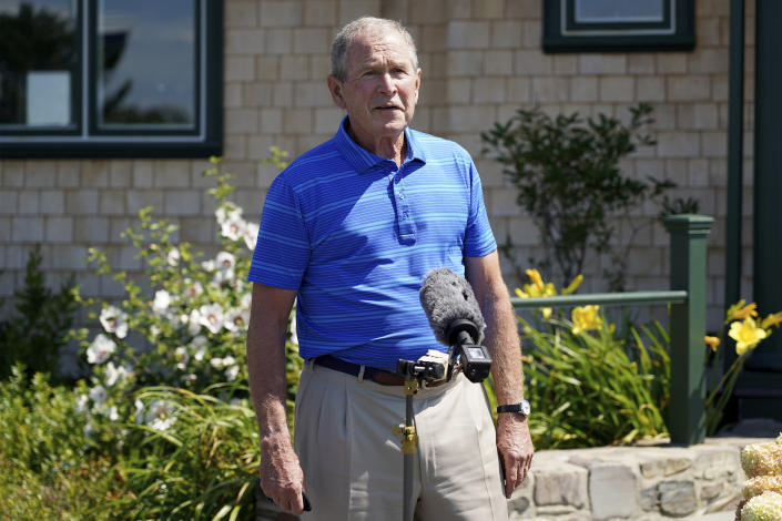Former President George W. Bush in Kennebunkport, Maine. (AP/Mary Schwalm)