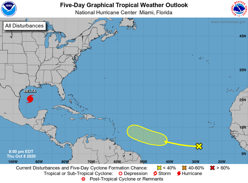 """The hurricane center is tracking a """"vigorous"""" tropical wave with a 20% chance of forming in the next five days."""