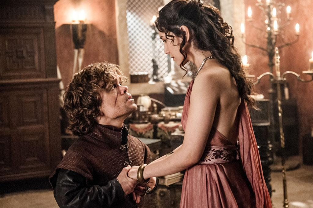 "Peter Dinklage and Sibel Kekilli in the ""Game of Thrones"" Season 3 episode, ""The Bear and the Maiden Fair."""