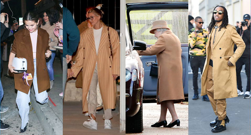 Selena Gomez, Hailey Bieber, Queen Elizabeth II, and Quavo have at least one thing in common. (Credit: Getty, Backgrid)