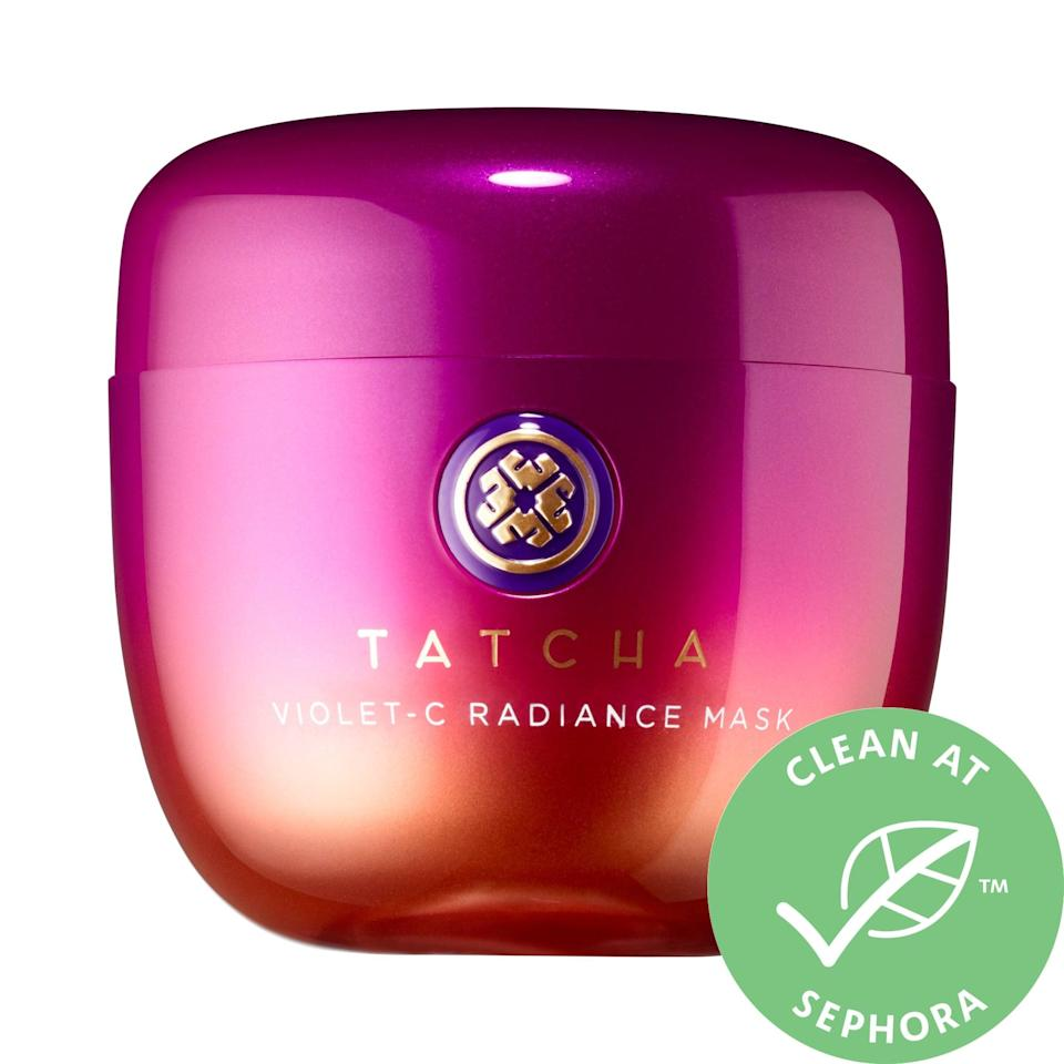 "<p>This <a href=""https://www.popsugar.com/buy/Tatcha-Violet-C-Radiance-Mask-525658?p_name=Tatcha%20Violet-C%20Radiance%20Mask&retailer=sephora.com&pid=525658&price=68&evar1=bella%3Aus&evar9=47529251&evar98=https%3A%2F%2Fwww.popsugar.com%2Fbeauty%2Fphoto-gallery%2F47529251%2Fimage%2F47529255%2FTatcha-Violet-C-Radiance-Mask&list1=sephora%2Cacne%2Cdark%20spots%2Cskin%20care&prop13=api&pdata=1"" class=""link rapid-noclick-resp"" rel=""nofollow noopener"" target=""_blank"" data-ylk=""slk:Tatcha Violet-C Radiance Mask"">Tatcha Violet-C Radiance Mask</a> ($68) is in my <a href=""https://www.popsugar.com/beauty/pomodoro-technique-self-care-face-masks-47337942"" class=""link rapid-noclick-resp"" rel=""nofollow noopener"" target=""_blank"" data-ylk=""slk:regular mask rotation"">regular mask rotation</a> because it has two types of brightening vitamin C inside to take on hyperpigmentation. There's a water-soluble one that absorbs (and works) quickly and then an oil-soluble one that helps my complexion become more even and less red over time. It also helps with any dryness, thanks to a 10-percent AHA-blend to eliminate dead skin cells on the surface.</p>"