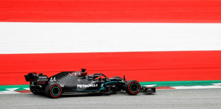 Lewis Hamilton unveiled a new 'Black Lives Matter' helmet design on Friday as Formula One roared back to life in the Styrian Alps in opening practice at the belated and surreal season-opening Austrian Grand Prix