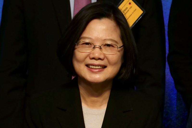 Taiwan's President Tsai Ing-wen attends American Chamber of Commerce's annual general meeting in Taipei