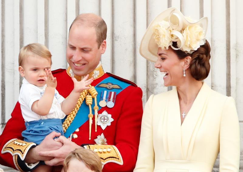 Kate, Wills and Louis stole the show. Photo: Getty Images